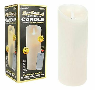 Extra Large Flickering Flame Candle Light 23Cm Real Wax Remote Glow Dancers