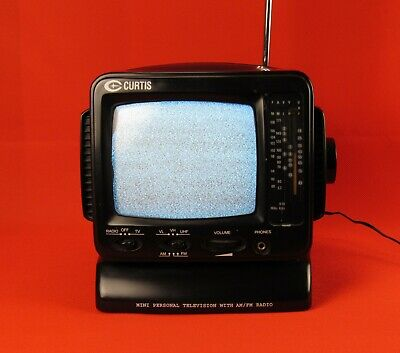 "Curtis Portable 5"" Black & White TV RT-068 Working Item Video Available"