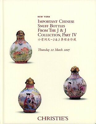 Important Chinese Snuff Bottles, J & J Collection, Christie's-NY, 22 March 2007