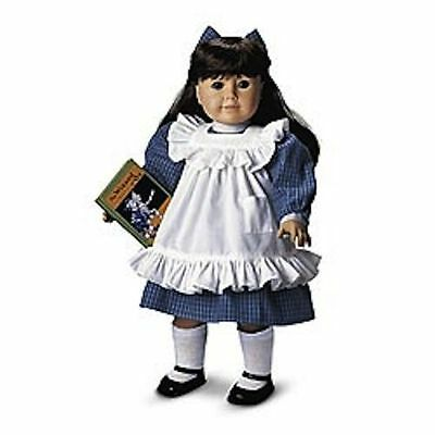 American Girl Doll Samantha's Play Dress And Pinefore Blue Ribbon New  Retired