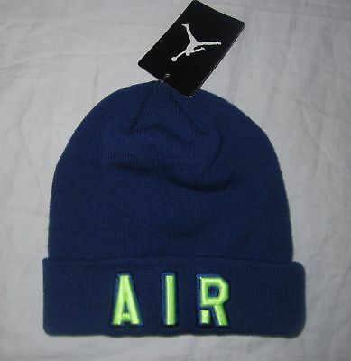 8db20c95733 NWT Boys NIKE AIR JORDAN Jumpman 23 Blue Beanie Hat Cap - Youth One Size