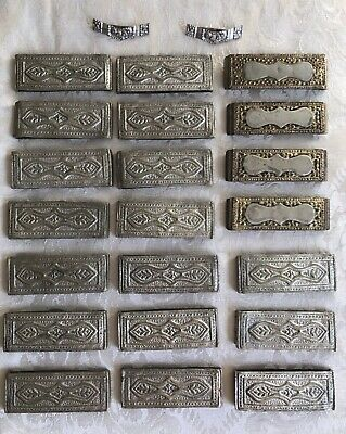 Antique Brass Ottoman Turkish Hand Hammered Brass Silver Belt Pieces Decoration
