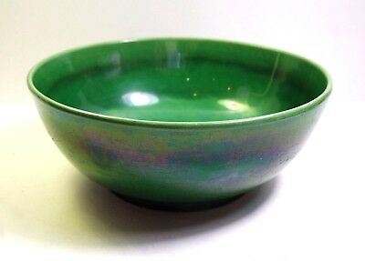 VERY FINE ANTIQUE 1860's CHINESE QING DYNASTY  GREEN GLAZED  BOWL