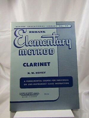 Rubank No. 34 Elementary Method CLARINET N.W.Hovey (VTG 1933)