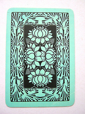 Single Swap English Wide Lillie's Lily Antique Playing Card 1898