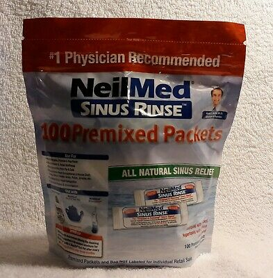 Neil Med Sinus Rinse All Natural Sinus Relief  200 Total Premixed Packet Ex.2021