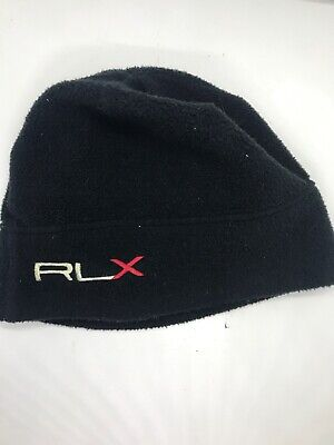 c38b4715e0402 Ralph Lauren Polo Golf Junior Classic Beanie Hat Black RLX Stocking Ski Cap