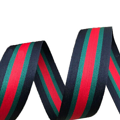c65c92e58 40MM Black Red Green Stripe Grosgrain Ribbon DIY For Finishing Decor GUCCI  Style