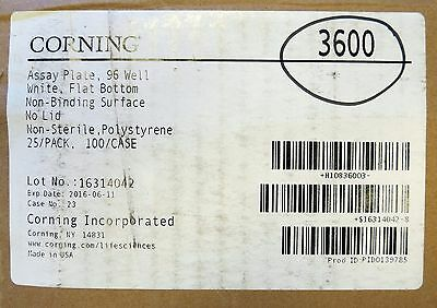 Case/100 Corning 96 Well White FB Assay Plates 360uL #3600