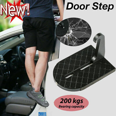 Portable Folding Car Door Latch Hook Step Foot Pedal Ladder For SUV Truck Roof