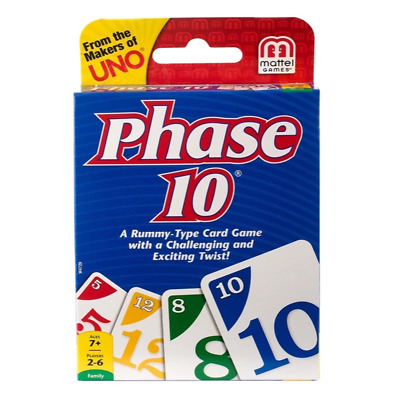 Mattel 05454 Phase 10 Uno Card Game New