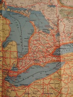 VINTAGE CANADA & Northern United States Highway Map ...