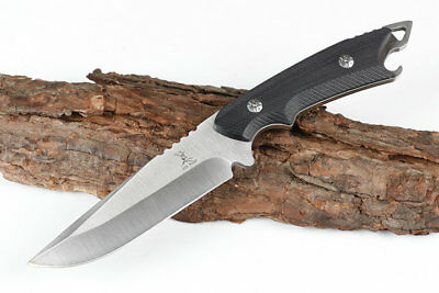 9'' New 5CR13MOV Blade Full Tang G10 Handle Survival Bowie Hunting Knife VTH165
