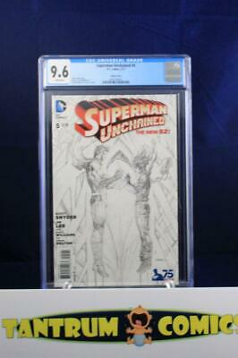 Superman Unchained #5  CGC 9.6 - rare Jim Lee sketch cover, limited to 1-in-300