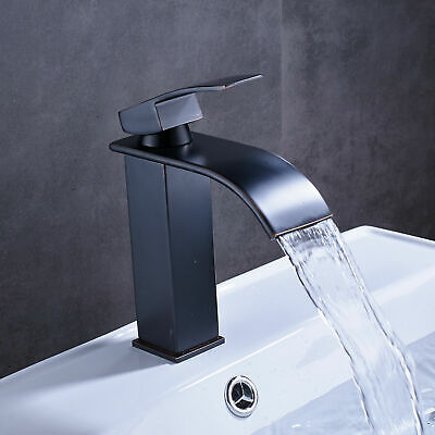 Bathroom Basin Faucet 2 Knob Single Hole Vanity Sink Mixer Tap Oil Rubbed Bronze