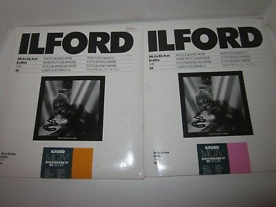 Ilford Multigrain photo paper Glossy and Satin 25 sheets each unopened