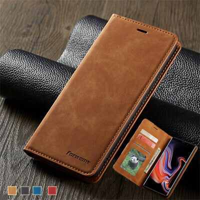For Samsung Galaxy S10 Plus S10E Magnetic Wallet Case Flip Leather Cover Stand