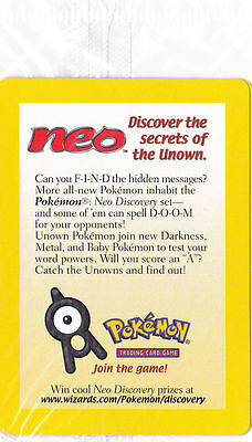 Pokemon Neo (2001) Trading Card *RARE HOLOGRAPHIC NEW PROMO SEALED IN PACK*