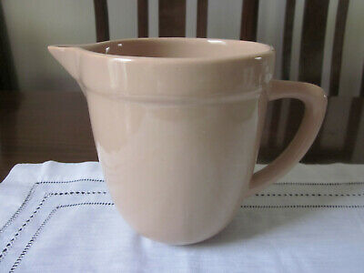 Large Retro Diana Pottery Tan Milk Jug ~ As New