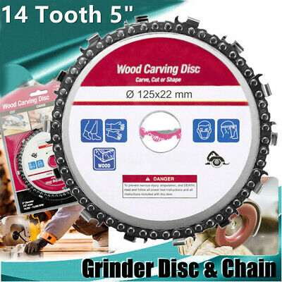 5 Inch 14 Tooth Fine Cut Angle Grinder Chain Saw Blade Wood Carving Disc Hot