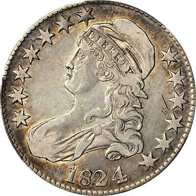 1824/4 Capped Bust Half Dollar Pcgs Xf Details-Gouge