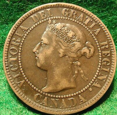 1893 XF High Grade CANADA LARGE CENT Victoria COIN CANADIAN <..