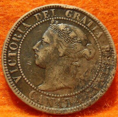 1901 XF High-Grade CANADA LARGE CENT Victoria COIN NoRes CANADIAN