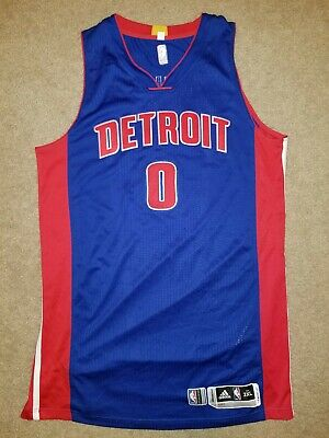 e7c0dc069963 Andre Drummond Detroit Pistons Game Worn Signed Jersey Adidas Rev30