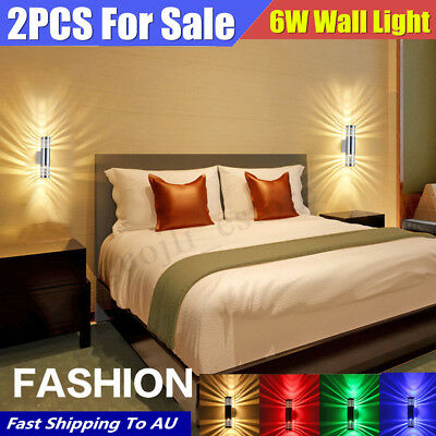 b7549c977f66 6W LED Modern Exterior Wall Light Lamp Sconce Dual Head Fixture Outdoor  Porch
