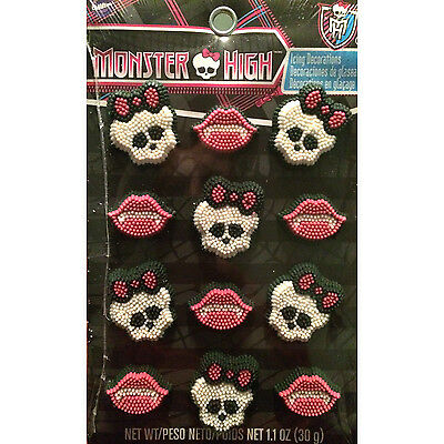 Wilton Monster High Edible Icing Decorations Cake Toppers  Cupcakes Party Cookie