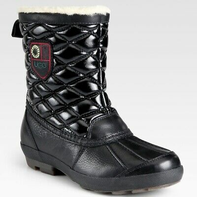 6a7647ea94d UGG BOOTS EVENT black SNOWPEAK 5160 Women's Shearling Lined Boots ...