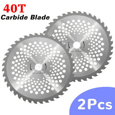 2PCS 40 Tooth Bore Diameter 10'' Carbide Blade For Brush Cutter Strimmer 255MM