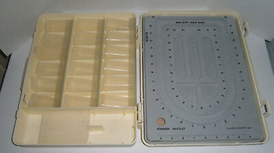 The BEAD BUDDY Plastic Workstation Organizer Case - Canisters & Flocked Board
