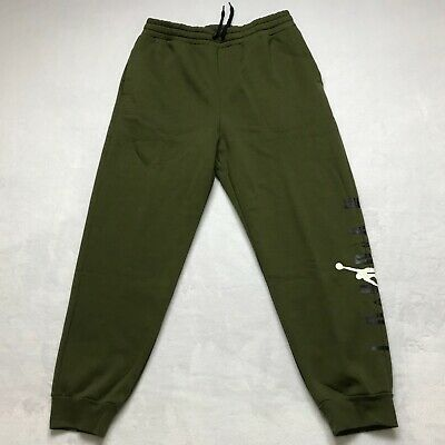 8b9c70a2ff70 Nike Jordan Jumpman Air Fleece Sweatpants Standard Fit Green SZ Large Men s  NWT