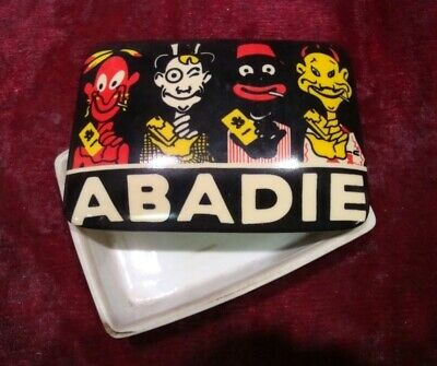 Box Jewelry Tobacco Advertising Abadie Bar French Style Porcelain
