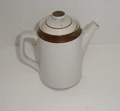 Vintage Brown Monterrey Stoneware 5 Cup Coffee Pot by MSI Japan EUC
