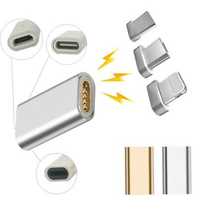 Magnetic Fast Charger Data Cable Converter Adapter For iPhone Samsung Huawei US