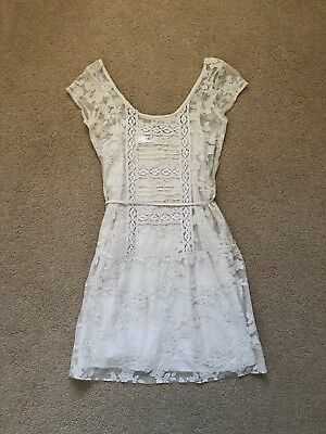 fccde4b9d NWT ABERCROMBIE & Fitch Lace Pierced Skater Dress Size Small Medium ...