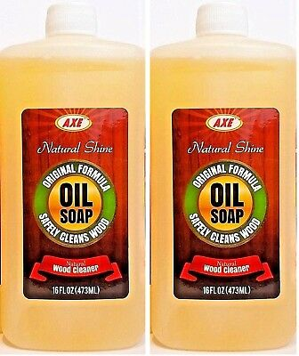 2 Axe Original Oil Soap 16 Oz Concentrated Natural Wood Cleaner Floors Cabinets