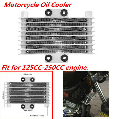 Motorcycle Oil Cooler Engine Radiator Fit for Most 125CC-250CC Dirt Pit Bike ATV