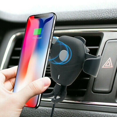 Qi Magnetic Phone Holder Car Charger Air Vent Mount Samsung S9 S8 Plus Wireless