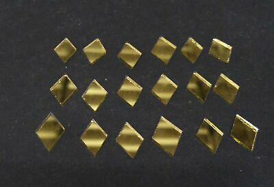 100 Golden Glass Diamond shape mirror mosaic tiles Art Craft 15*10 mm Diam