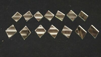 100 Silver Glass Diamond shape mirror mosaic tiles Art Craft 20 X 15 mm