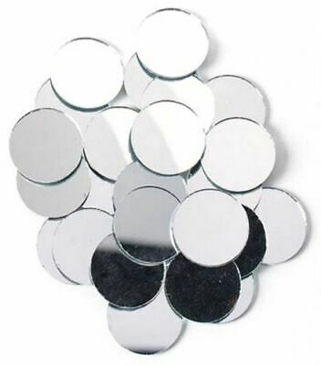 100pc Round Circle Silver Craft Glass Mirror Mosaic Tile Deco Art 11 mm Dia Dres