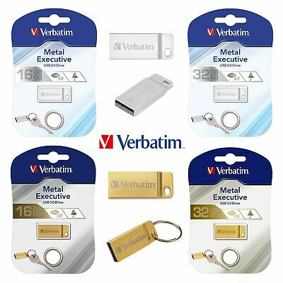 Verbatim Metal Executive 16GB 32GB USB 3.0 clé Key photo vidéo mp3 16 Go 32 Go