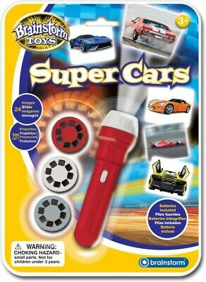 NEW Brains Super Cars Torch & Projector from Mr Toys