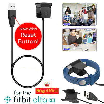 USB Charging Cable Charger Lead for FitBit Alta HR Tracker With Reset Button UK