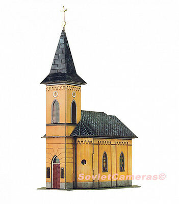 1/87 HO Scale Building Church Kirche Railway Railroad 3D Cardboard Model Kit New