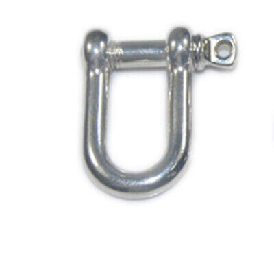 U Anchor Shackle Stainless Steel Screw for Paracord Bracelet Pin 1Pcs Silver