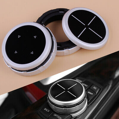 Silver Bigger Multimedia Knob Ring Trim IDRIVE Button Cover Fit BMW F10 F20 F30
